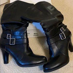 High healed Mid Calf boot